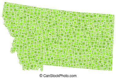 Map of Montana (USA)