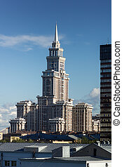 New tall skyscrapper in Moscow Russia