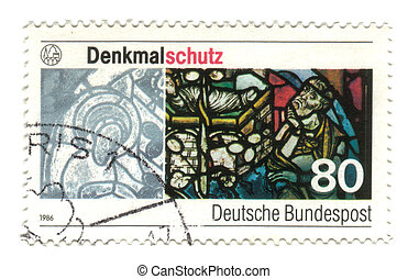 GERMANY - CIRCA 1986: A stamp printed in Germany, shows...