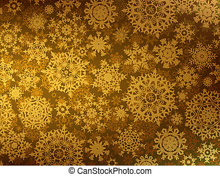 Golden Merry Christmas greeting card. EPS 8 vector file...