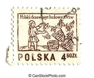 POLAND - CIRCA 1963: A stamp printed in Poland shows...