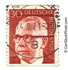GERMANY - CIRCA 1971: A stamp printed in Germany shows a...