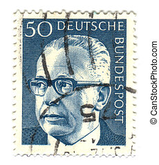 GERMANY - CIRCA 1971: A stamp printed in Germany showing a...