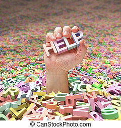 Asking For Help - In the middle of an ocean of letters, a...