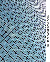 abstract glass windows heap, modern skyscrapper technology...