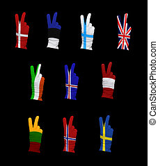 Flags of Northern Europe