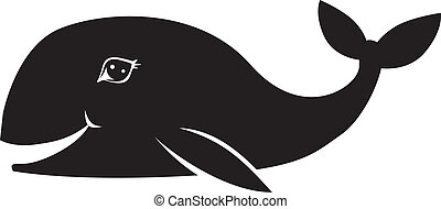 Whale smiles - Black and white image of a smiling whale