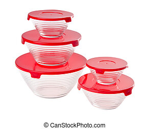 food containers on the white background. - food containers...