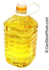 Soya bean oil on a container