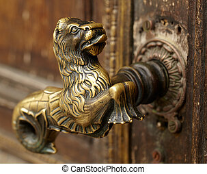 Vintage door handle - Vintage aged door handle in Tallinn,...