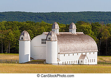 Huge Old White Barn - Huge white 19 Century barn on the...