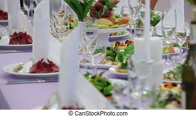 Wedding feast - Rich and abundant wedding feast.