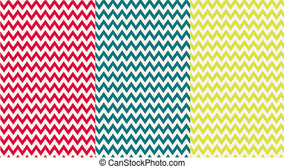 Pink, Blue & Yellow Chevron Papers - backgrounds or papers