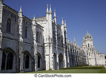 Stock Photo Mosteiro Dos Jeronimos - Side View Of Mosteiro...