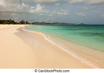 Sandy Tropical Caribbean Beach
