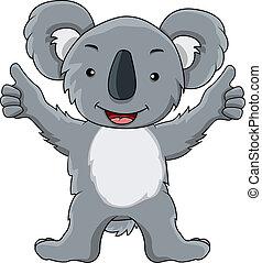 funny koala cartoon - vector illustration of funny koala...