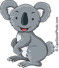 koala cartoon - vector illustration of koala cartoon