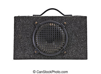 Vintage Car Audio Boom Box Woofer Isolated - Vintage car...