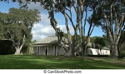 Historic house at waitangi grounds - Paihia, New Zealand...