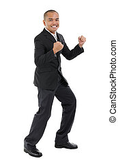 Excited business man - Excited Southeast Asian business man,...