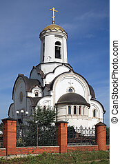 Orthodox temple in the Moscow region, Russia
