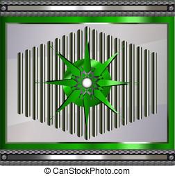 Metallic abstract vector rendered b