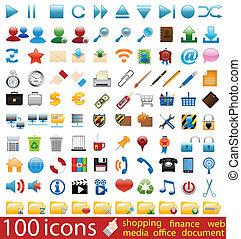 Hundred shiny Icons