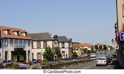 Marne-Rhine canal in Saverne, Alsace, France