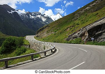 Road - Alpine road between high mountains