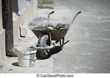 Barrow - Dirty barrow at a construction site