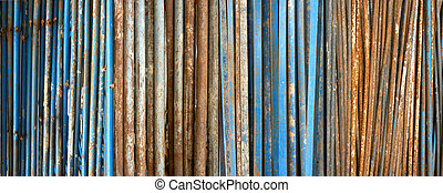 Old rusty metal pipes