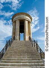 Siege Bell, war memorial in Valetta, Malta.