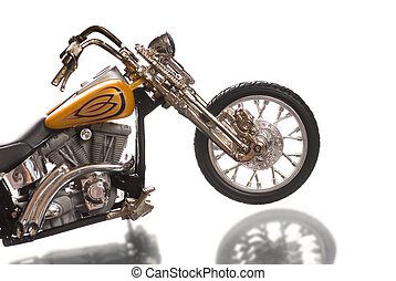 Motorcycle isolated on white background