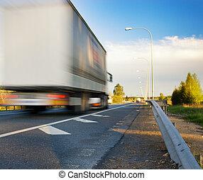 Mudanza, camión, Rápido