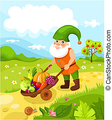 dwarf - vector illustration of a cute dwarf