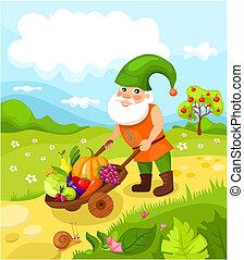 dwarf - vector illustration of a cute dwarf