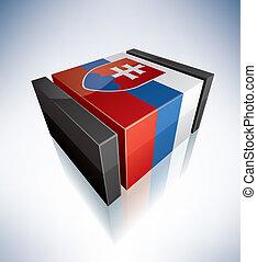 3D flag of Slovakia