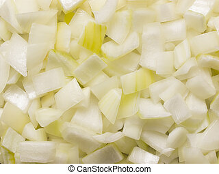 chopped onions - close up of chopped onions food background