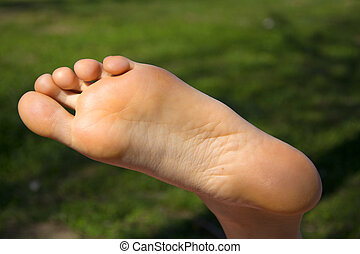 Womans foot - A close up of a womans foot