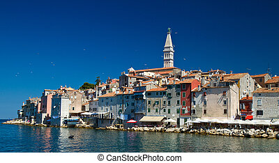 Rovinj, Croatia - Old town of Rovinj, Croatia Istria...