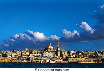 View of Valetta, Malta taken from Sliema.