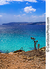 Mediterranean Sea - Beautiful Mediterranean Sea in the...