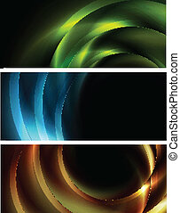 Vibrant vector banners