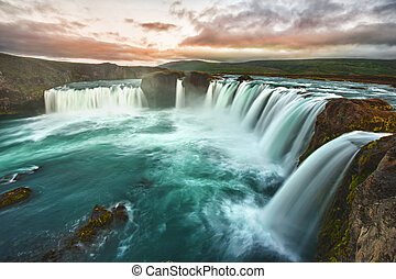 Godafoss is a very beautiful Icelandic waterfall. It is...