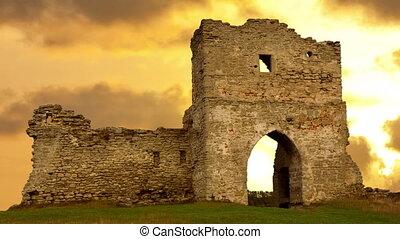 Ruined gates of cossack castle