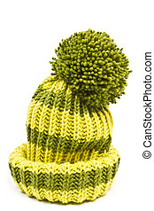 knitted woolen hat isolated on white background