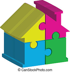 illustration of house - Vector 3d illustration of house from...