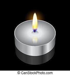 vetorial, Ilustração, vela