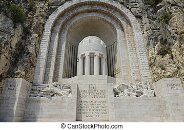 Monument Aux Morts War Memorial in Nice France
