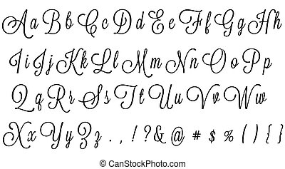 Black Cursive Alphabet - cursive alphabet